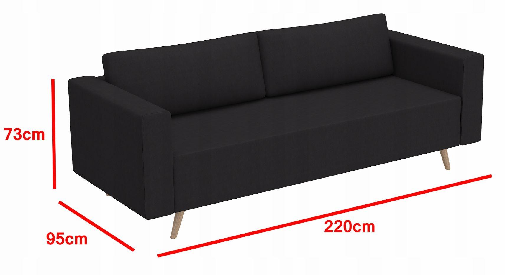 Cudowna Sofa kanapa rozkładana NORBI ST wersalka - Allmeblo BX56