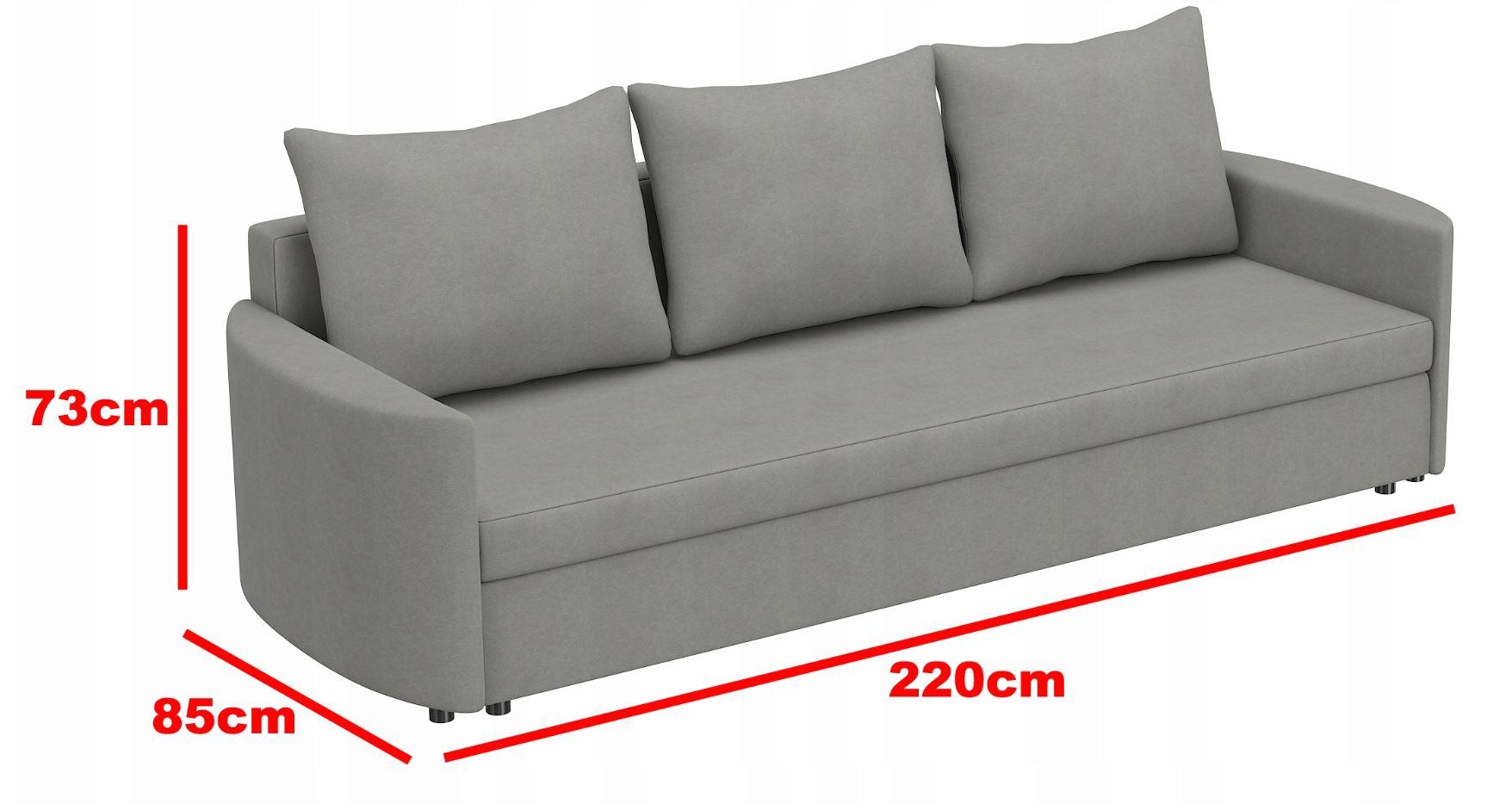 Zupełnie nowe Sofa kanapa rozkładana SANTI ST wersalka - Allmeblo TH22